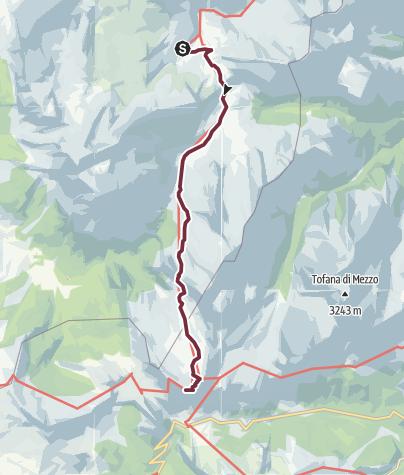 Karte / AV1 Segment E F Alternative - Rifugio Lavarella to Rifugio Lagazuoi