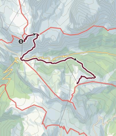 Karte / AV1 Segment G & H Alternative - Rifugio Lagazuoi to Rifugio Scoiattoli