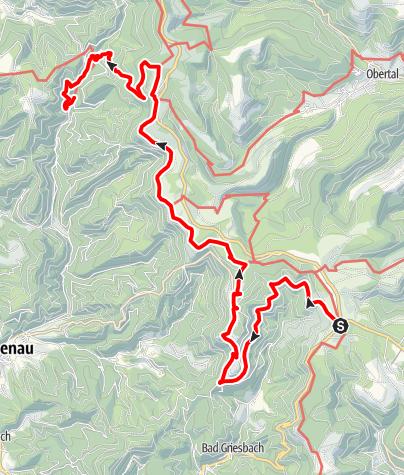 Karte / Renchtalsteig Etappe 4