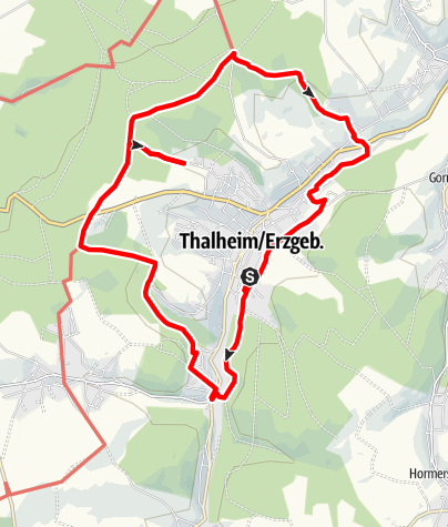 Karte / Westlicher Thalheimer Rundwanderweg