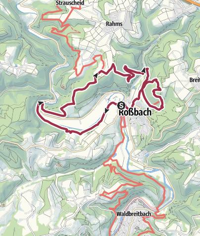 """Karte / WesterwaldSteig-Erlebnisschleife """"Basaltbogen"""""""