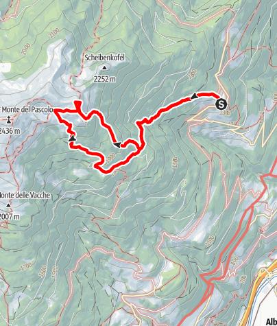 Mapa / Von Gereuth am Pfeffersberg zum Hundskopf und zur Radlseehütte