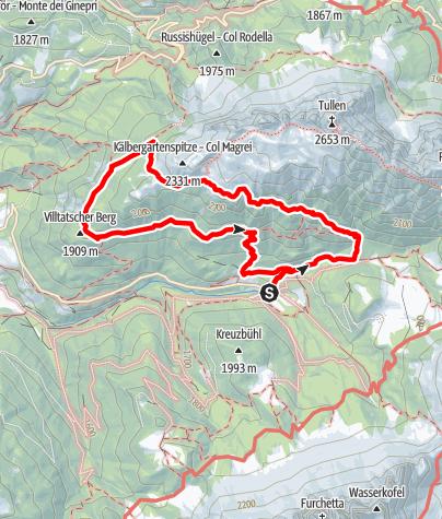 Mapa / Die Herrensteig-Runde in Villnöss