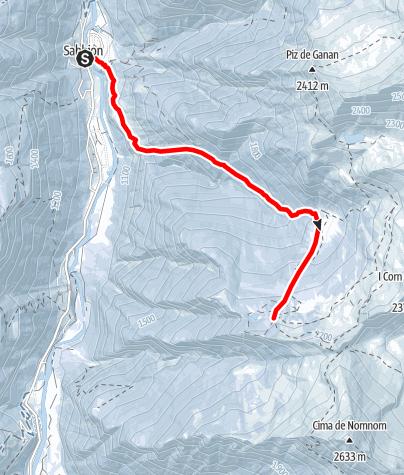 Map / Rossa - Capanna Buffalora