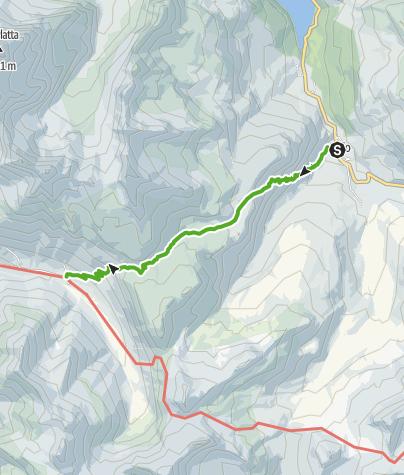 Karte / Bivio - Stallerberg - Juf