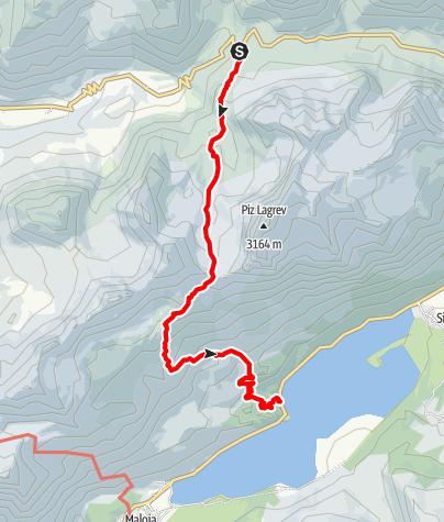 Karte / Julier La Veduta - Fuorcla Grevasalvas - Plaun da Lej