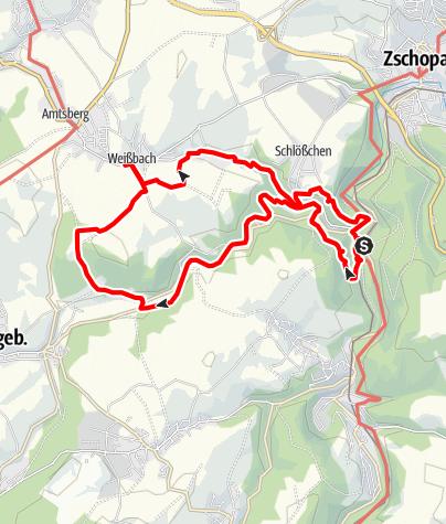 Karte / Vom Affenstein nach Mini-Weißbach