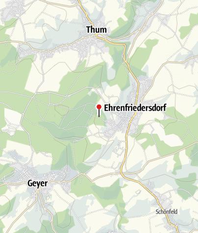 Karte / Bergbaulandschaft Ehrenfriedersdorf: Zinn