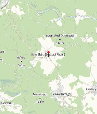 Karte / Montanlandschaft Abertamy–Boží Dar–Horní Blatná: Zinn|Eisen