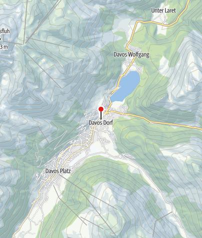 Karte / Davos-Dorf: Bahnhof