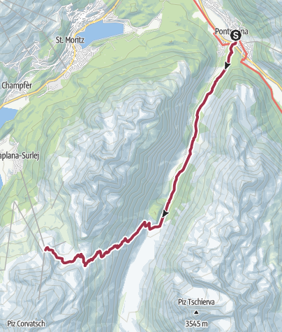 Map / Pontresina to the Val Roseg