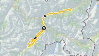 Karte / Alternativstrecke Zernez - Zuoz - Scuol