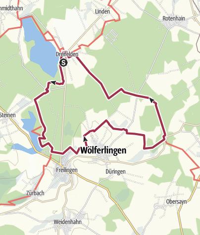 """Karte / WesterwaldSteig-Erlebnisschleife """"Romantische Seenplatte"""""""