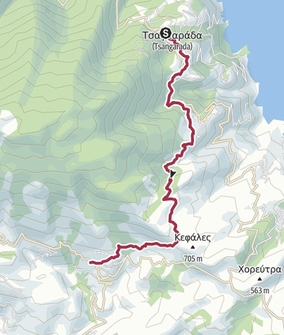 Map / Walk across the ridge to Milies