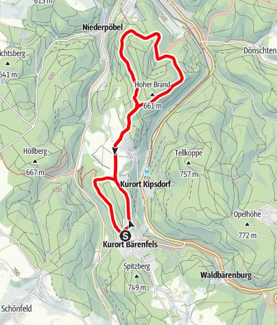 Karte / Brandtour