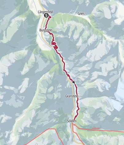 Map / Walk to Sölden