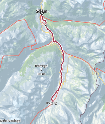 Map / Walk to Obergurgl