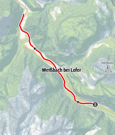 Karte / Obere Saalach (I-II)