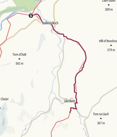 Carte / Ballindalloch to Glenlivet Distillery
