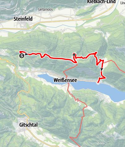 Karte / Weiße Wand - Alm hinterm Brunn
