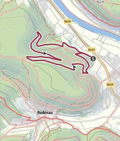 Karte / Scheuerbusch Runde – Kleinheubach