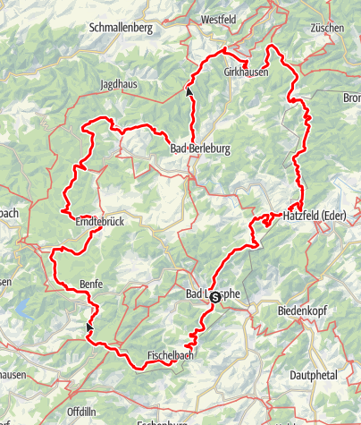 Karte / Wittgensteiner Panoramaweg