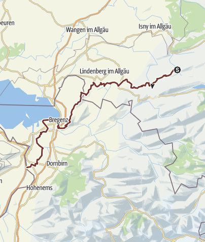 Map / The Camino de Santiago from Missen via Scheidegg and  the ridge of the Pfänder to Bregenz (variation)