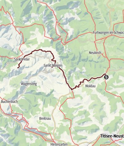 Karte / Hochschwarzwald Jakobusweg