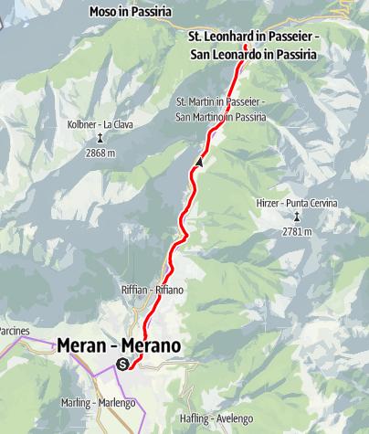 Map / Passeiertal cycle path