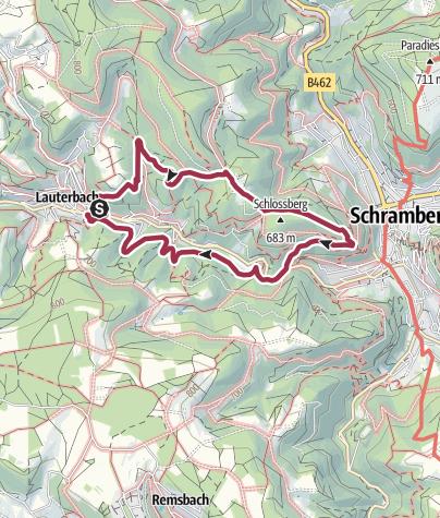 Karte / Die Hohenschramberg und das Felsenmeer