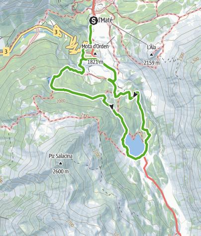 Karte / Bitabergh- und Cavloc-See