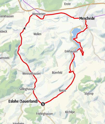 Karte / SauerlandRadring HenneseeSchleife - Wennemen Radweg