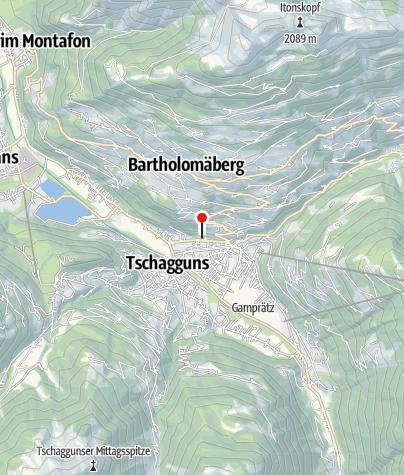 Karte / Christians Muntafuner Hus