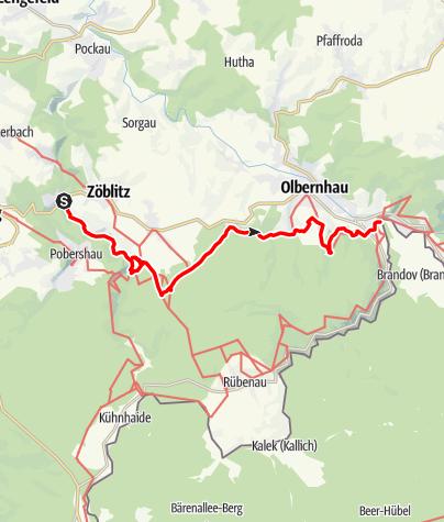 Karte / Anwandern am Kammweg 2020 Tour 1: Vom Schwarzwassertal über Rungstock zur Saigerhütte