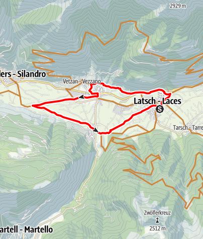 Mappa / Giro di Laces