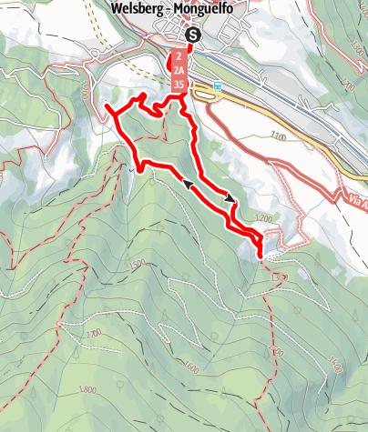 Mappa / Percorso mulino Goala