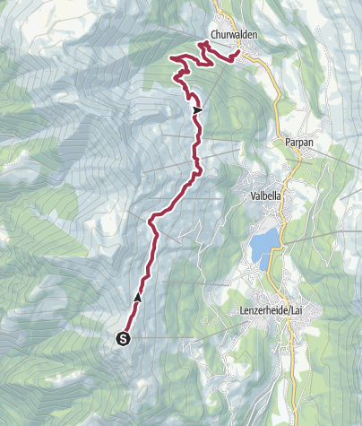 Map / Vom Piz Scalottas nach Churwalden