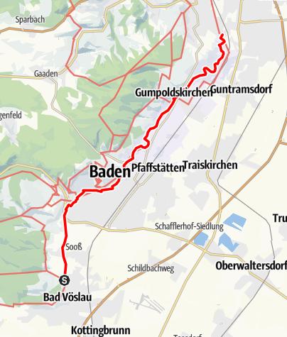 Karte / 1. Wiener Wasserleitungswanderweg