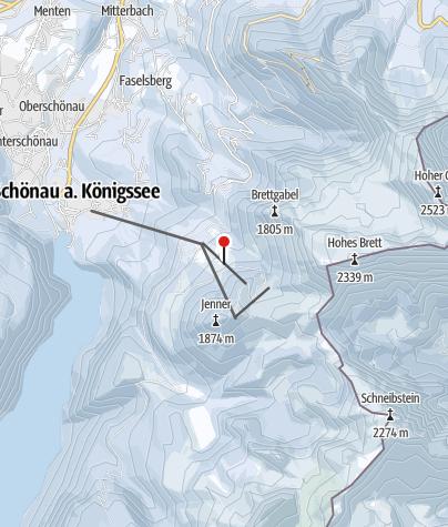 Karte / Jennerwiesenbahn