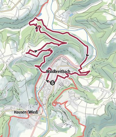 """Karte / WesterwaldSteig-Erlebnisschleife """"Katzenschleif"""""""