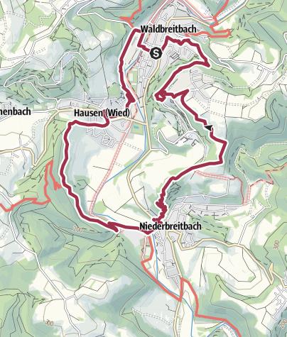 """Map / WesterwaldSteig-Erlebnisschleife """"Wiedblick-Tour"""""""