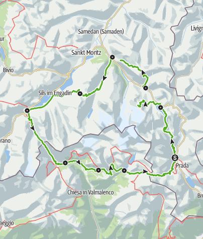 Kaart / Bernina Tour