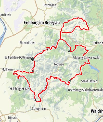 Karte / Schwarzwald Super! Rennradmarathon 2019 / Katzengold