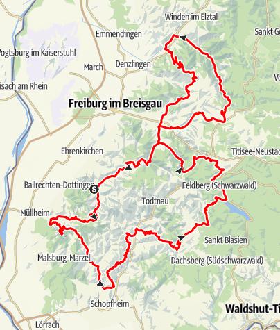 Karte / Schwarzwald Super! Rennradmarathon 2019 / Gold