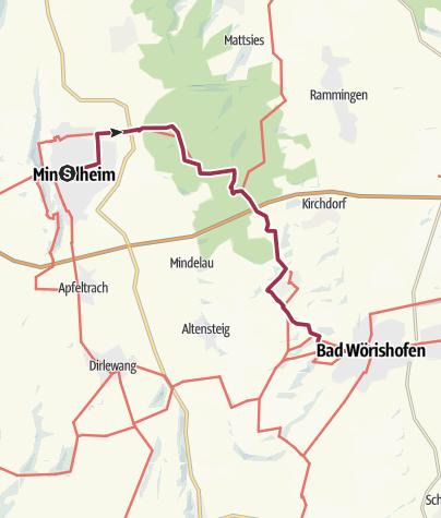 Karte / Von Mindelheim nach Bad Wörishofen