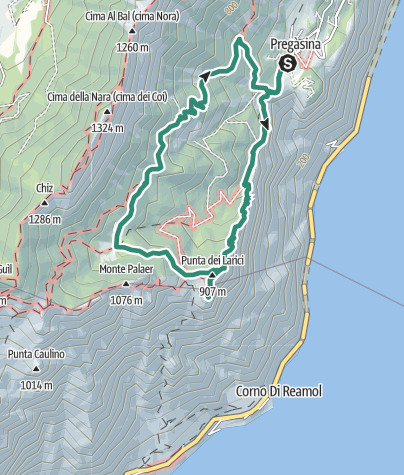 Map / Punta Larici, the most spectacular lookout point on Lake Garda