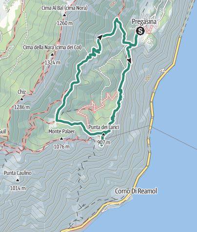 Karte / Punta Larici, der spektakulärste Aussichtspunkt am Gardasee