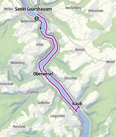 Map / St. Goar - Oberwesel - St. Goarshausen mit Fähren