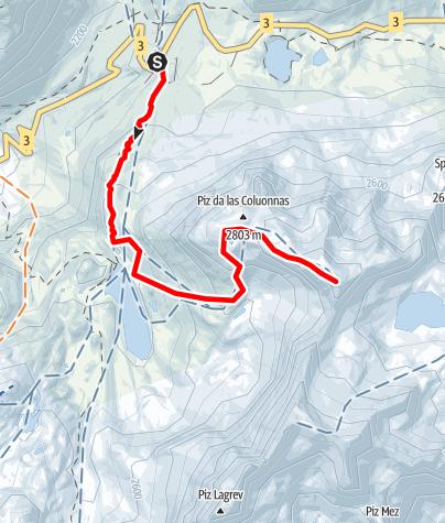 Map / Piz da las Coluonnas 2960 m ü.M.