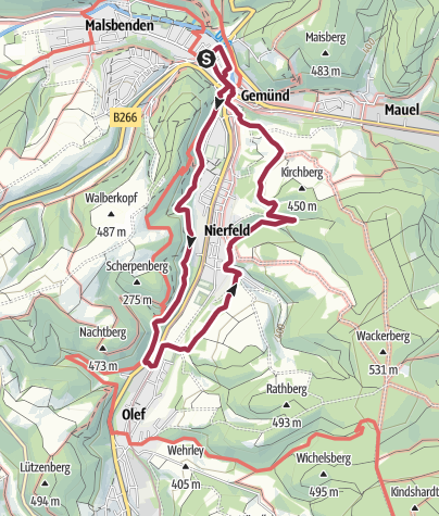 Karte / Nordeifel: Oleftal-Tour (13) Gemünd